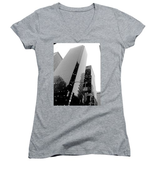 Women's V-Neck T-Shirt (Junior Cut) featuring the photograph White And Black Inspiration  by Inga Kirilova