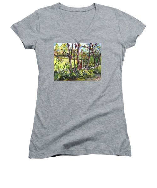 White And Yellow - An Unusual View Women's V-Neck