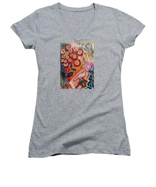 White Bird Women's V-Neck T-Shirt