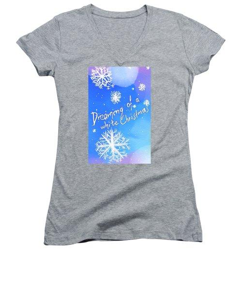 White Christmas  Women's V-Neck T-Shirt