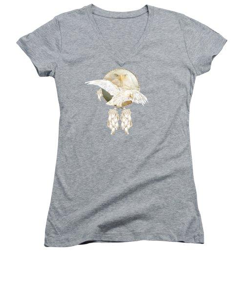 White Eagle Dreams Women's V-Neck