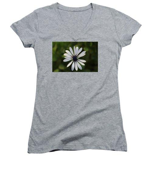 White Flower Women's V-Neck