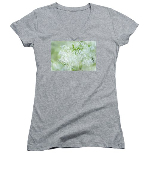 White Fringetree Women's V-Neck