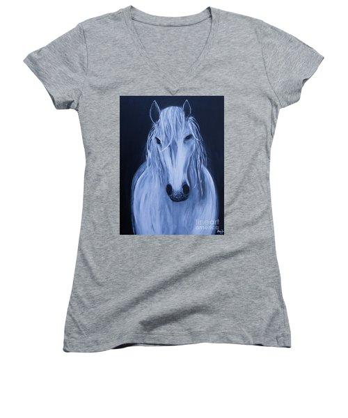 White Horse Women's V-Neck T-Shirt