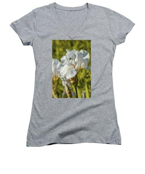 White Iris June 2016.  Women's V-Neck T-Shirt