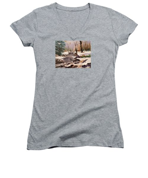White Mountains Creek Women's V-Neck (Athletic Fit)