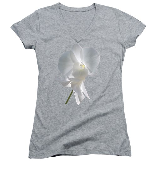 White Orchid Women's V-Neck (Athletic Fit)