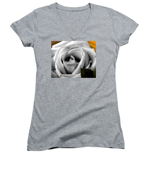 White Rose 2 Women's V-Neck T-Shirt