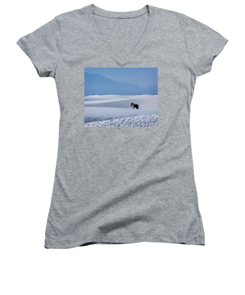 White Sands Horse And Rider #5b Women's V-Neck (Athletic Fit)