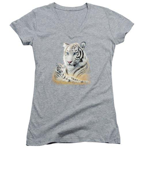 White Tiger Women's V-Neck