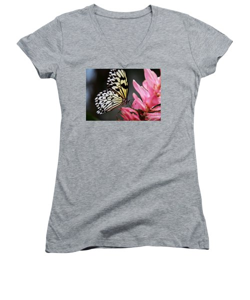 White Tree Nymph Women's V-Neck