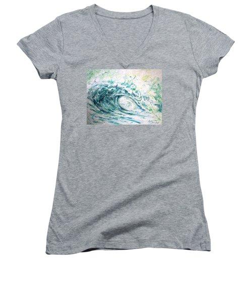 White Wash Women's V-Neck T-Shirt