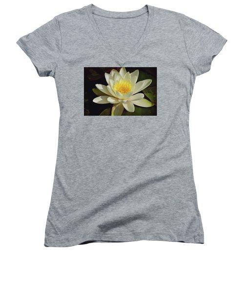 White Water Lily Women's V-Neck T-Shirt