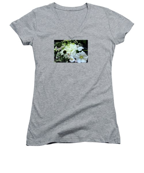 Women's V-Neck T-Shirt (Junior Cut) featuring the photograph Whites And Pastels by Tanya Searcy
