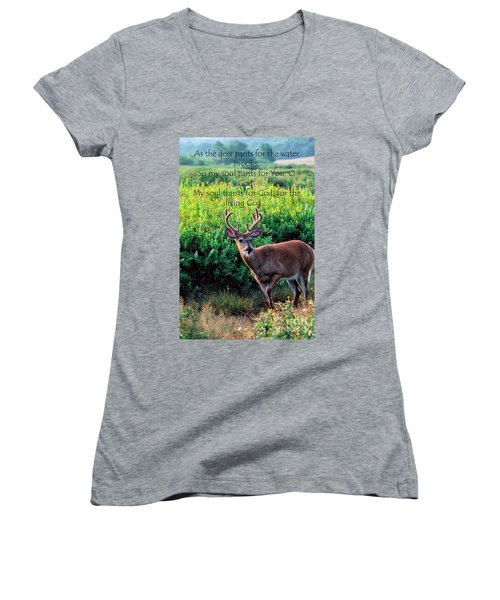 Whitetail Deer Panting Women's V-Neck