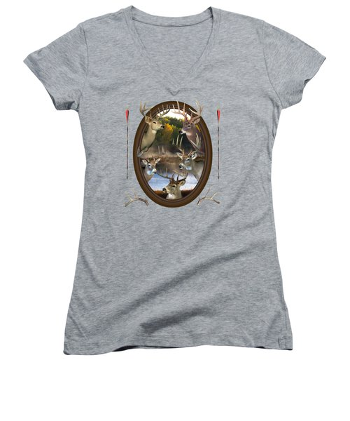 Whitetail Dreams Women's V-Neck (Athletic Fit)
