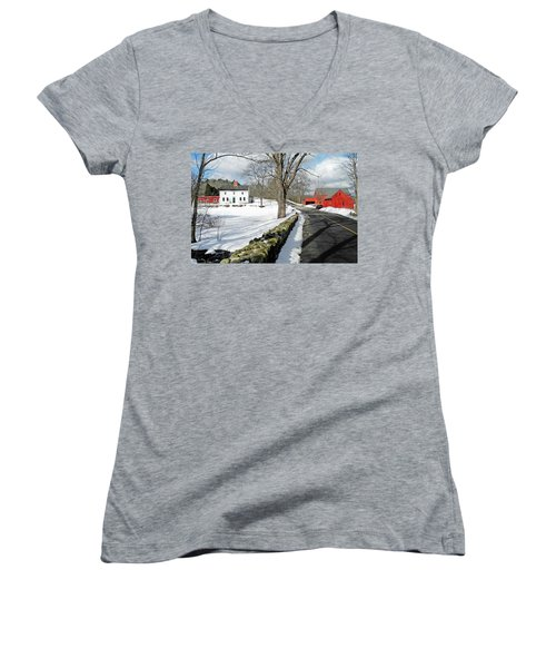 Whittier Birthplace Women's V-Neck (Athletic Fit)