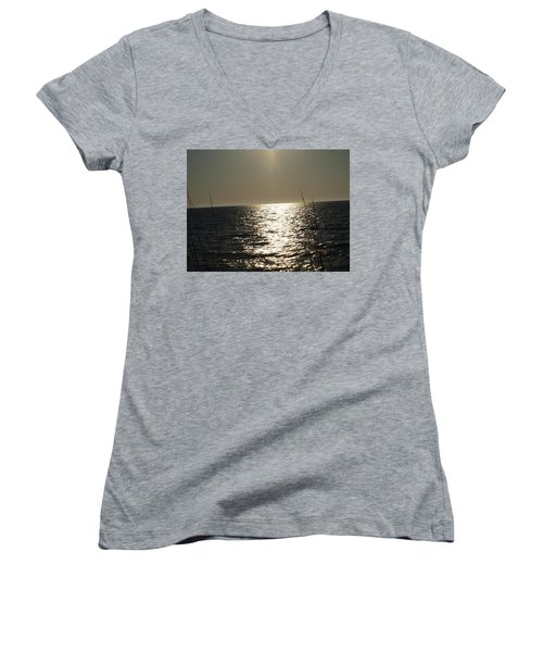 Women's V-Neck T-Shirt (Junior Cut) featuring the photograph Who Framed Roger Rabbit by Robert Margetts