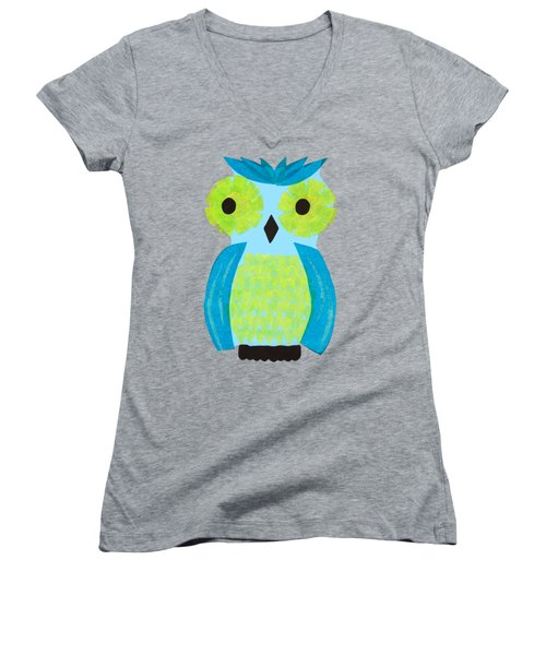 Who? Who? Women's V-Neck (Athletic Fit)