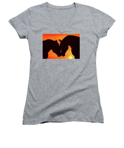 Wholeheartedly Women's V-Neck T-Shirt (Junior Cut) by Iryna Goodall