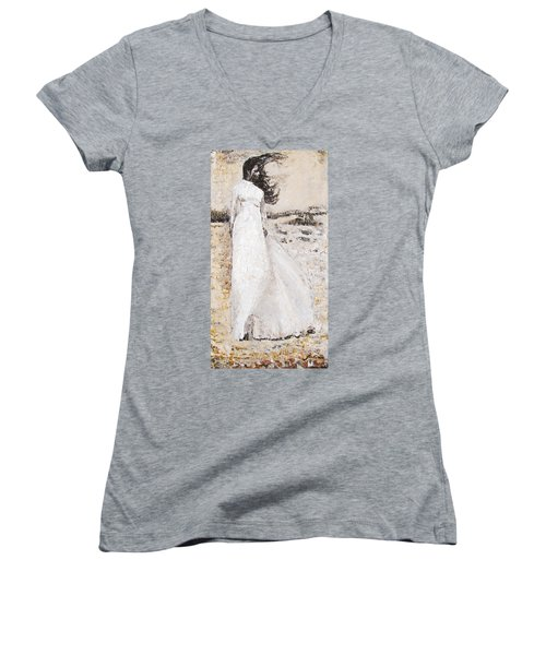 Out On The Wiley Windy Moors Women's V-Neck