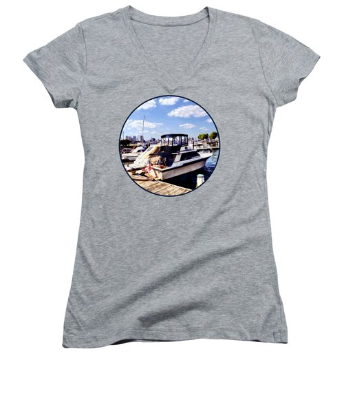 Wiggins Park Marina Women's V-Neck T-Shirt