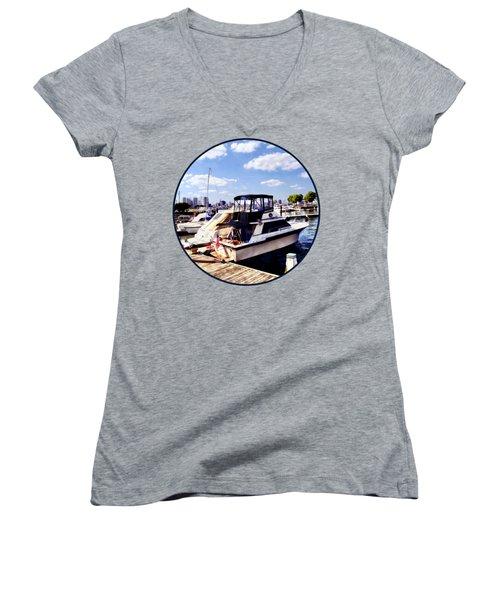 Wiggins Park Marina Women's V-Neck T-Shirt