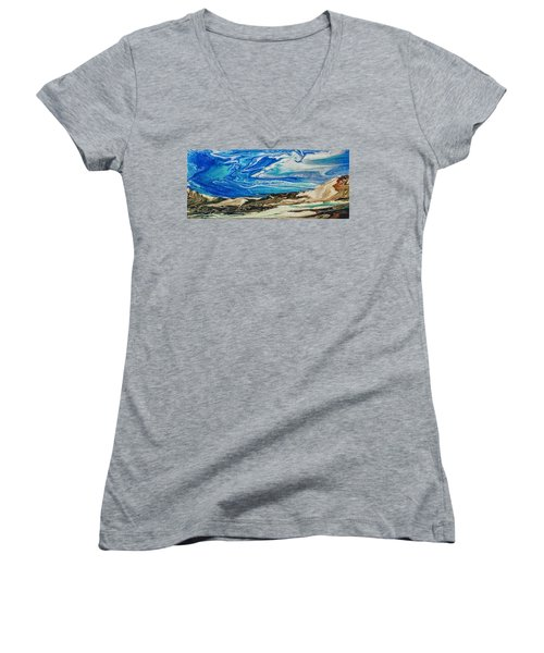 Wiinter At The Beach Women's V-Neck