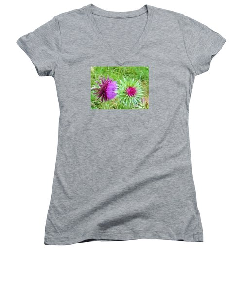 Wild Beauty In The Meadow Women's V-Neck (Athletic Fit)
