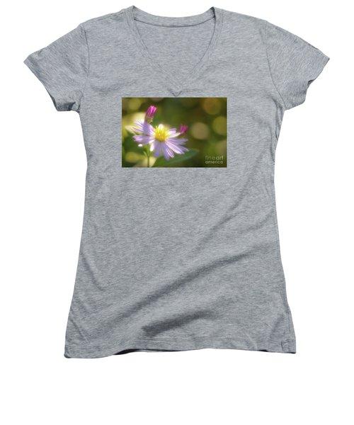 Wild Chrysanthemum Women's V-Neck T-Shirt