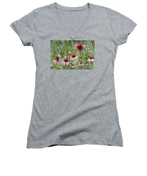 Wild Coneflowers Women's V-Neck