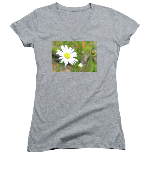 Wild Daisy With Visitor Women's V-Neck