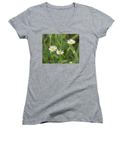 Wild Flower Sunny Side Up Women's V-Neck (Athletic Fit)