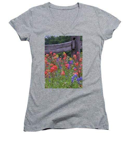 Wild Flowers Women's V-Neck