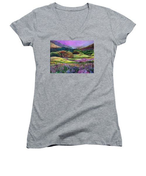 Wild Flowers Women's V-Neck (Athletic Fit)