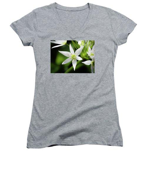 Wild Garlic Flower Women's V-Neck
