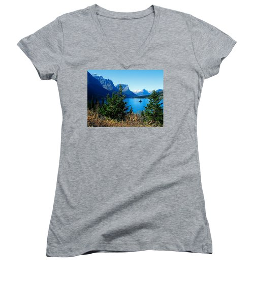Wild Goose Island In The Fall Women's V-Neck (Athletic Fit)