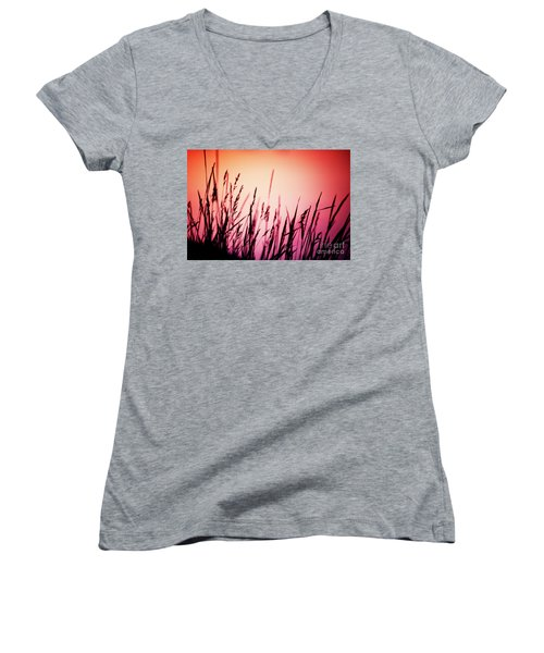 Wild Grasses Women's V-Neck
