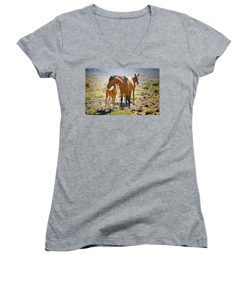 Wild Horse Family Women's V-Neck (Athletic Fit)