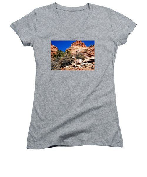 Wild Ram At Zion Women's V-Neck (Athletic Fit)