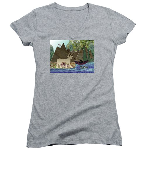 Wild Rural Animals Women's V-Neck