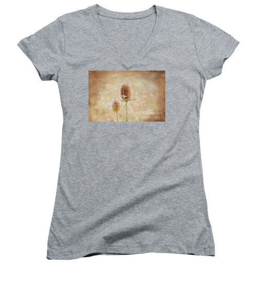 Wild Teasel Women's V-Neck T-Shirt
