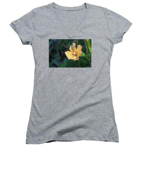 Wilderness Flower 2 Women's V-Neck (Athletic Fit)