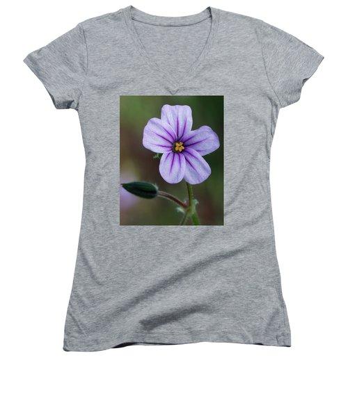 Wilderness Flower 3 Women's V-Neck (Athletic Fit)