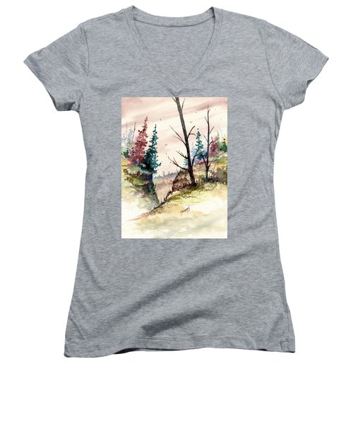 Wilderness II Women's V-Neck T-Shirt
