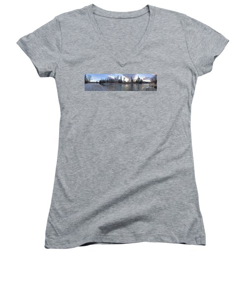 Women's V-Neck T-Shirt (Junior Cut) featuring the photograph Wilderness by Victor K