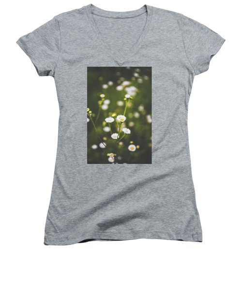 Women's V-Neck T-Shirt (Junior Cut) featuring the photograph Wildflower Beauty by Shelby Young