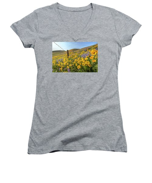 Wildflower Bonanza Women's V-Neck