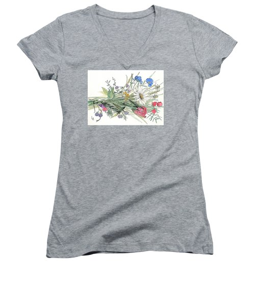 Wildflower Bouquet Women's V-Neck T-Shirt