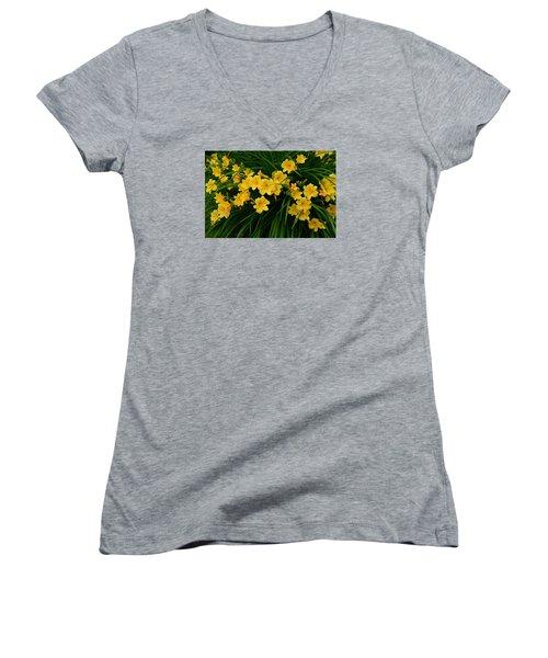 Wildflower Bouquet Women's V-Neck T-Shirt